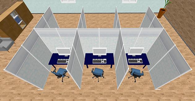 オフィスのワークスペース、ワーキングブース