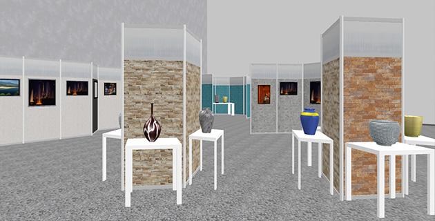 ギャラリー、展示ブース、イベントスペース